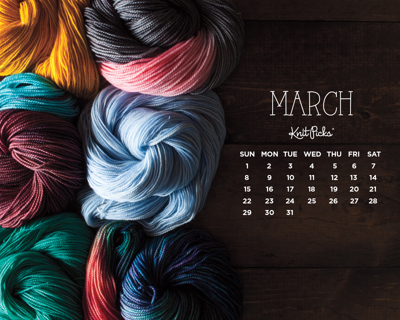March 2015 Wallpaper Calendar   KnitPicks Staff Knitting Blog 1280x1024