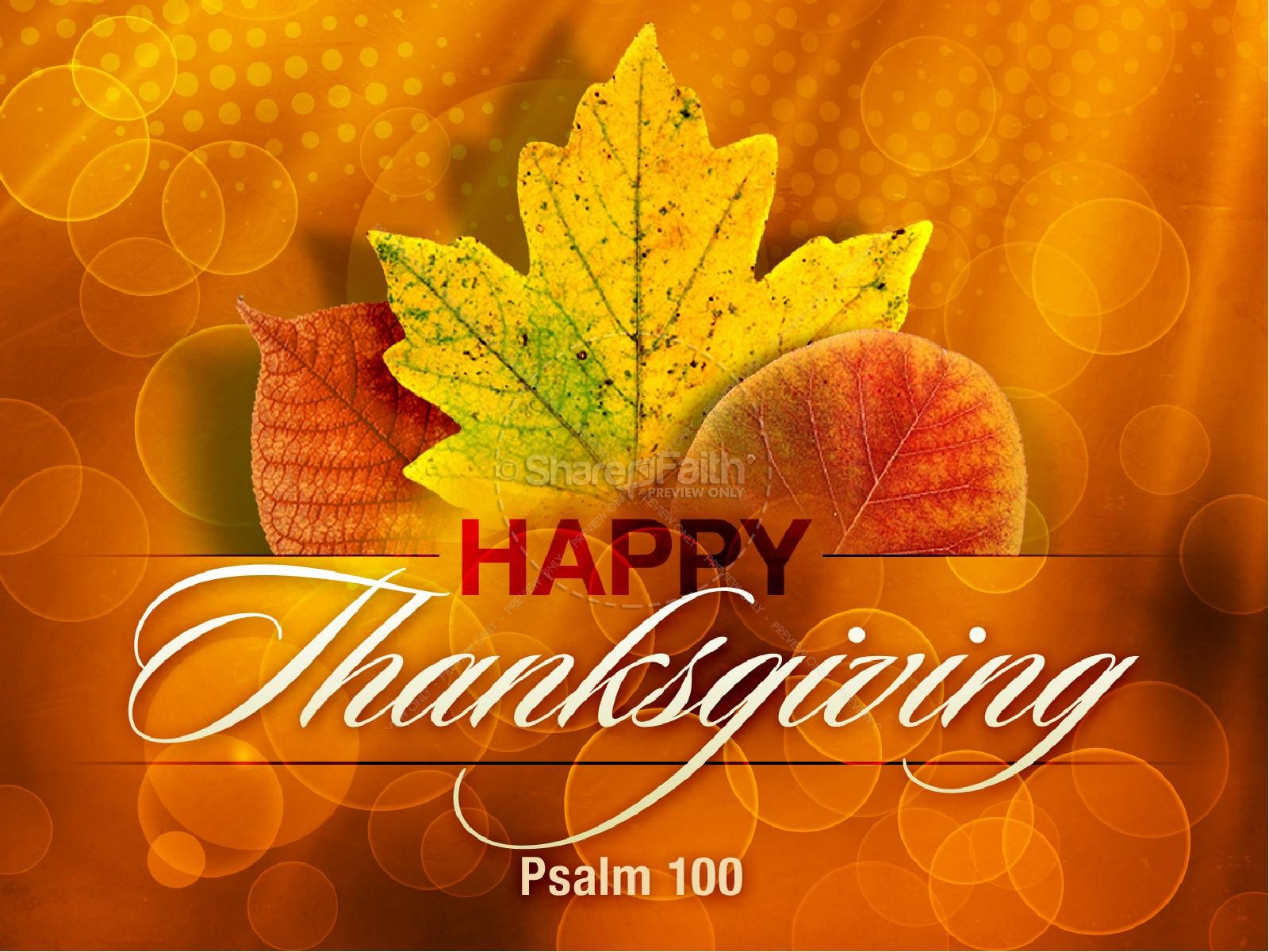 Happy Thanksgiving Worship Background Slide Worship Backgrounds 1600x1200