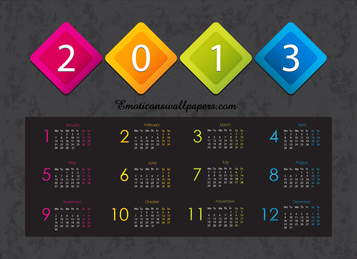 Calendar 2013 Wallpapers 6 Wallpapers Desktop Wallpapers 1200x873