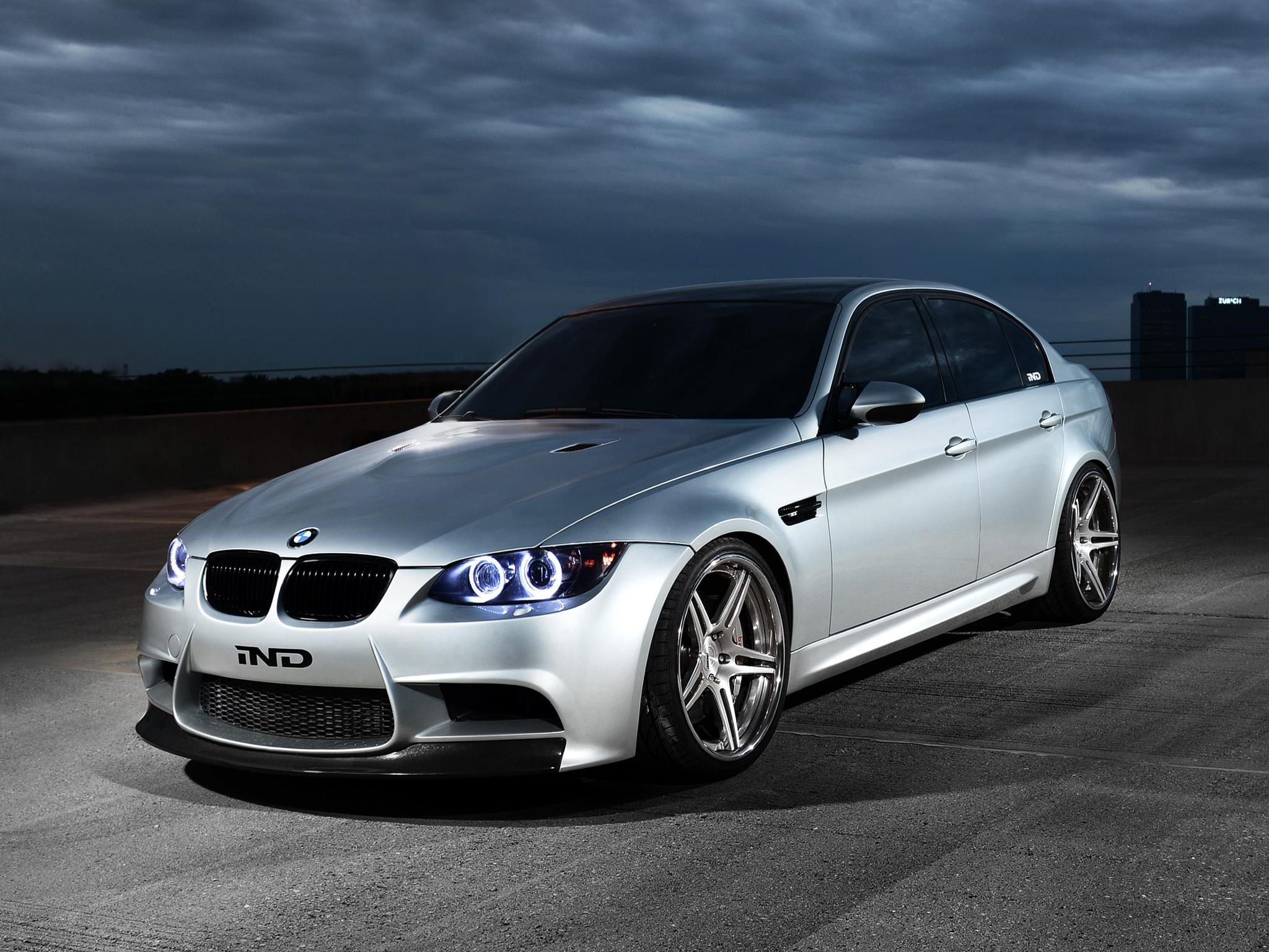 IND BMW M3 Sedan Silver Ghost E90 2012 wallpaper 512 2048x1536