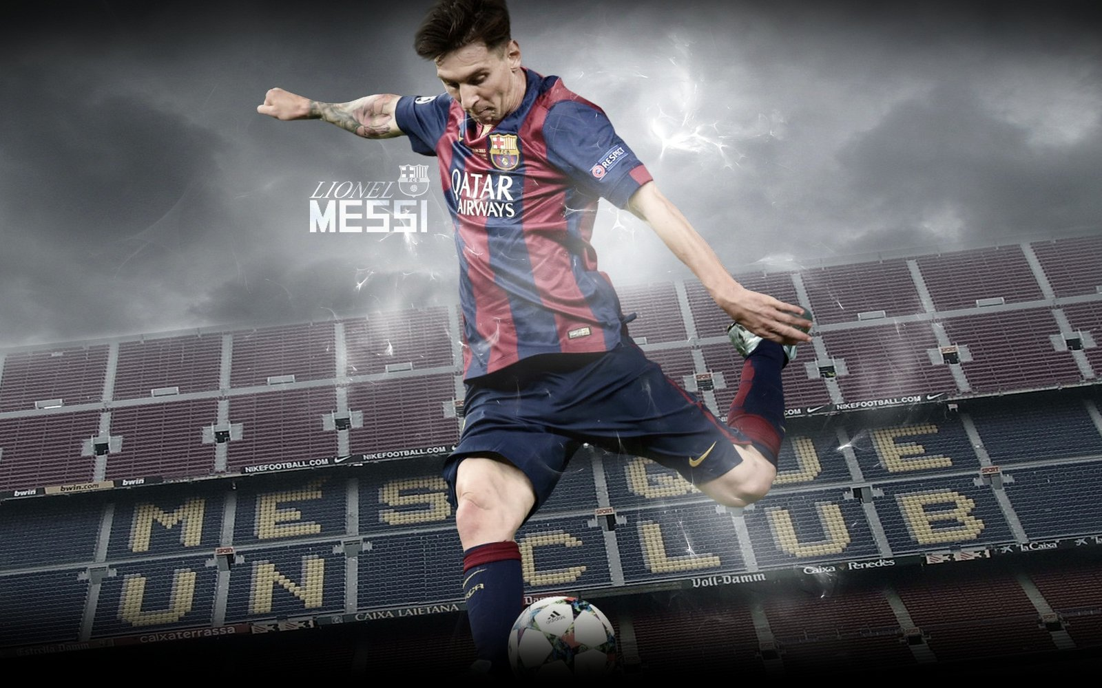 Lionel Messi Wallpaper 201516 by ChrisRamos4 1600x1000