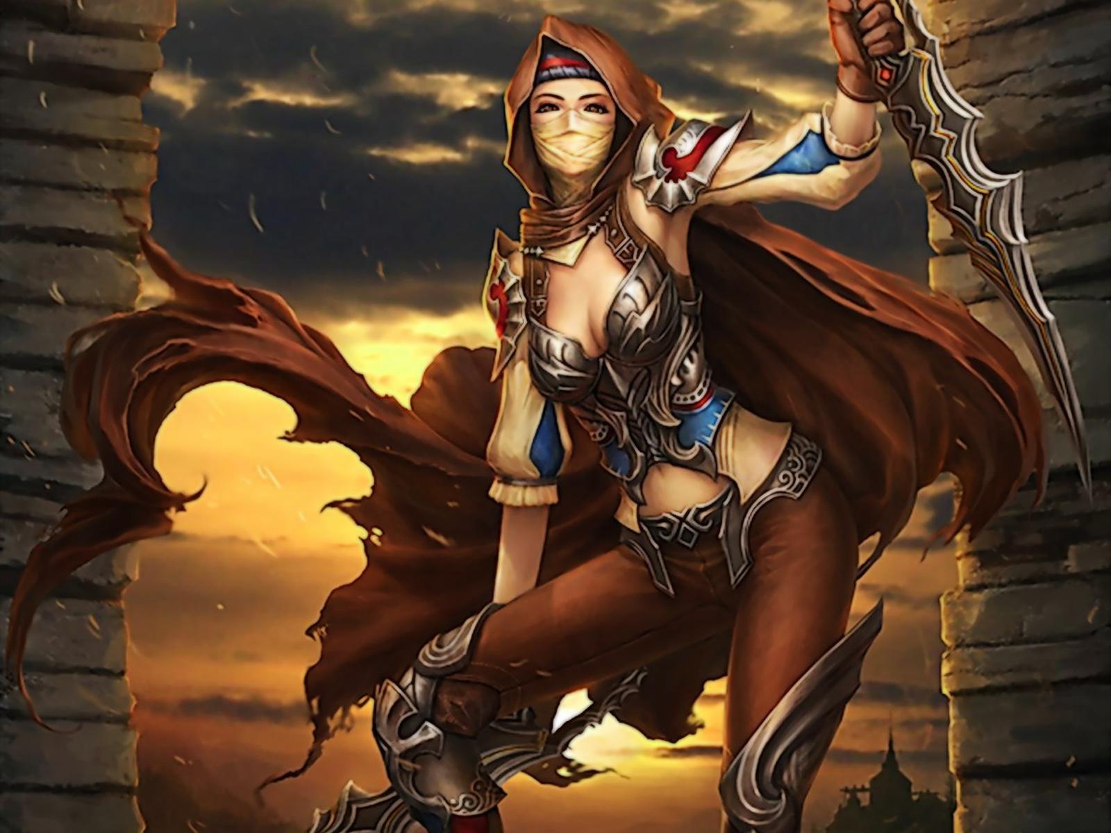 Warrior Women Wallpapers Hot babes Backgrounds Warrior Women Fantasy 1600x1200