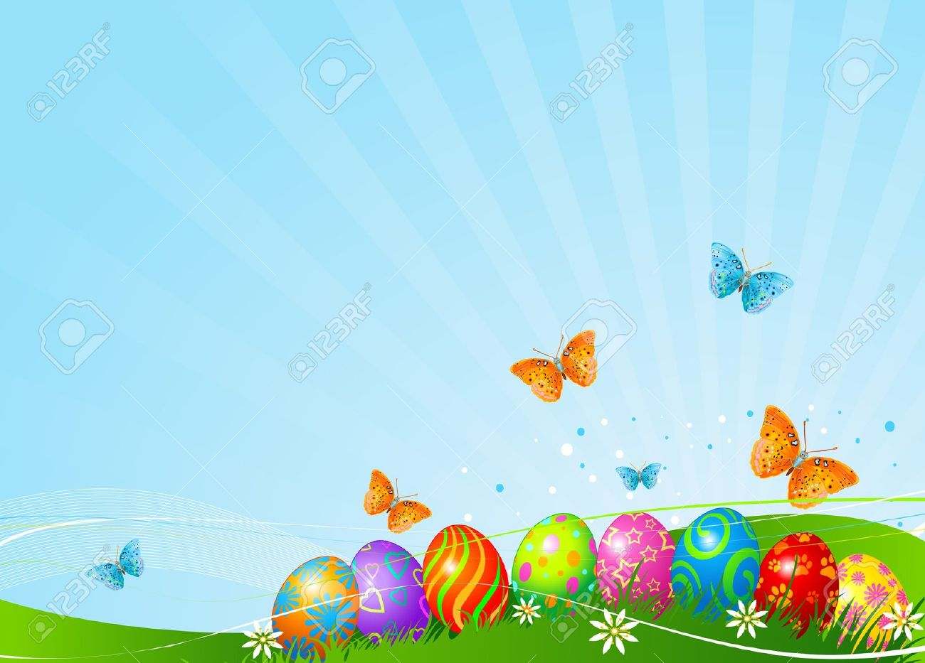 30 Easter Background Clipart 1300x933