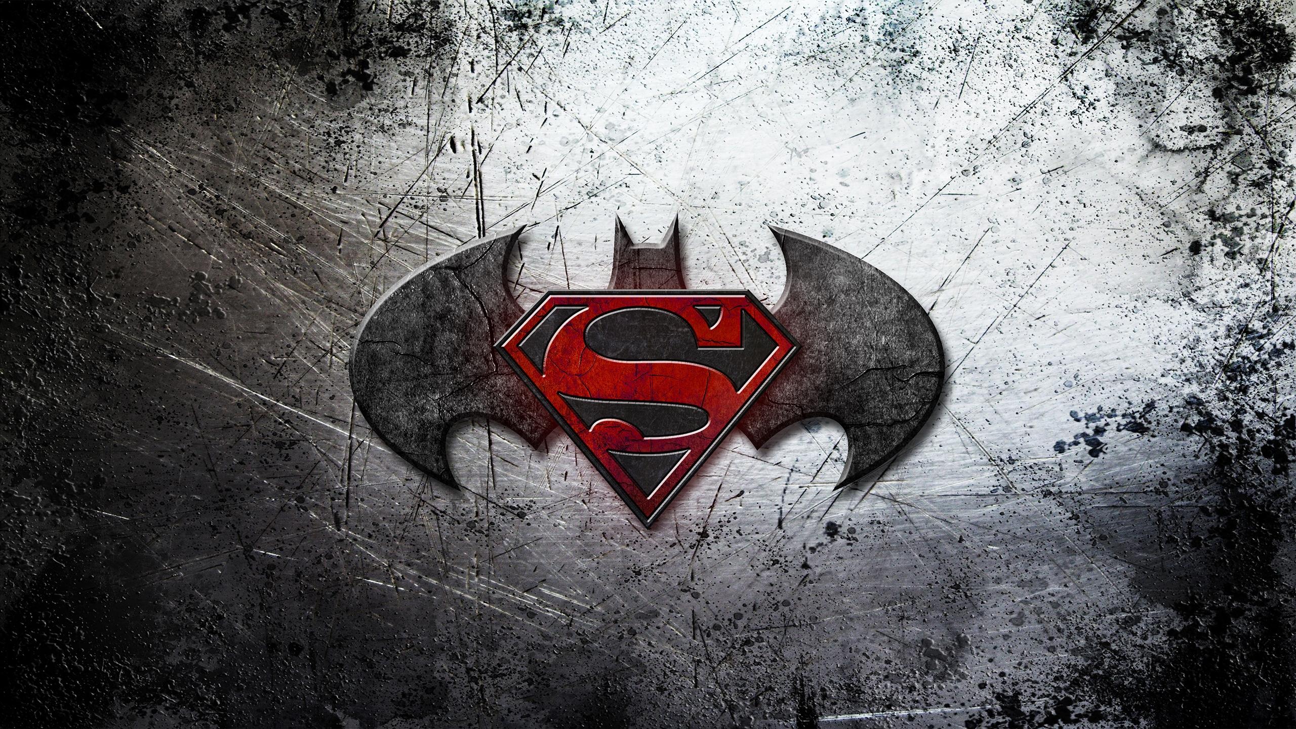 Batman vs Superman Logo Wallpaper   HD Background 2560x1440