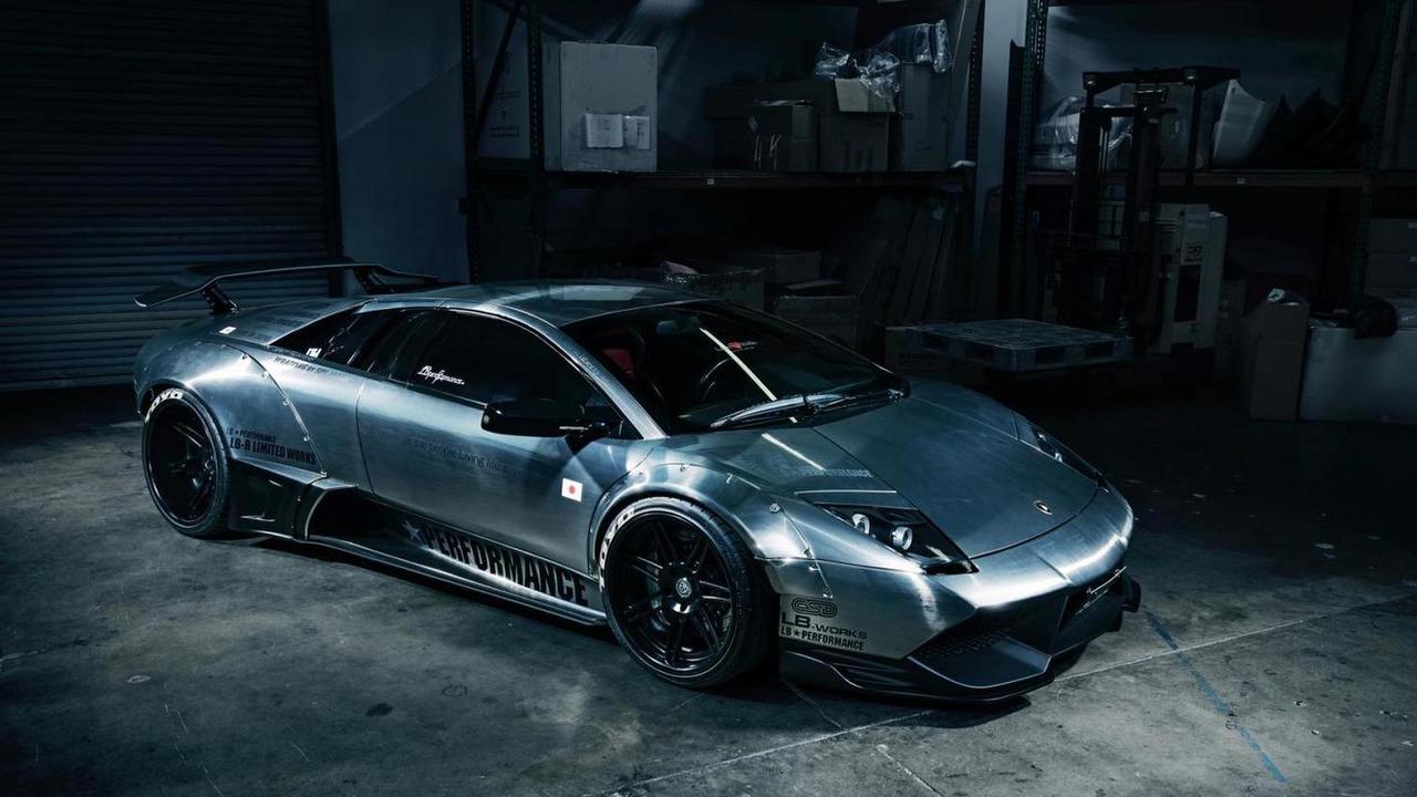 Lamborghini Murcielago with brushed aluminum wide body kit 1280x720