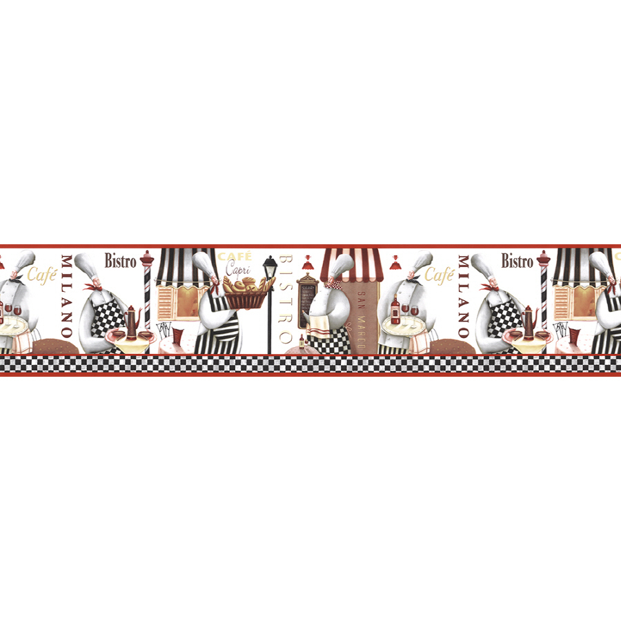 Shop Norwall 7 Bistro Chefs Prepasted Wallpaper Border at Lowescom 900x900