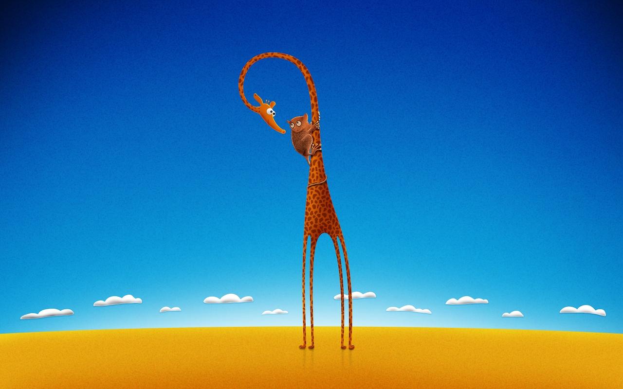 Giraffe and bear Mac Wallpaper Download Mac Wallpapers Download 1280x800
