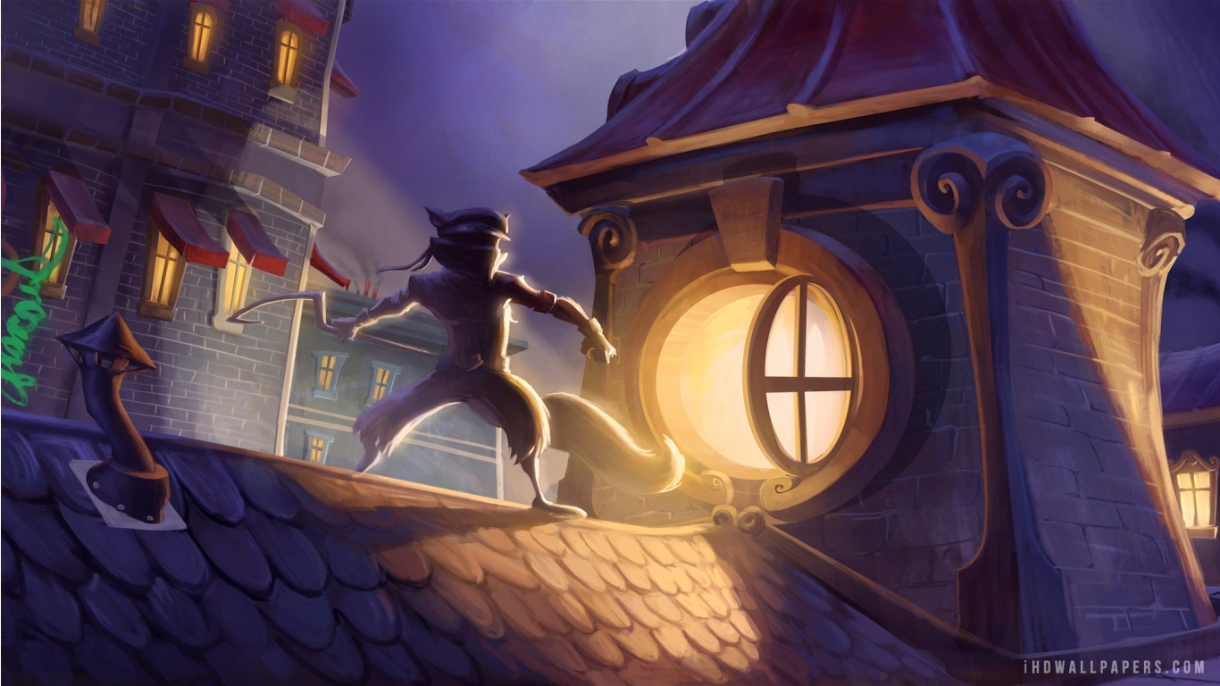 Sly Cooper Thieves in Time HD Wallpaper   iHD Wallpapers 1366x768