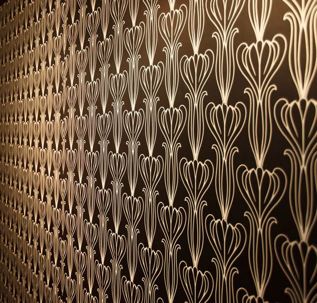 Bela Removable Wallpaper Midnight peel and stick Image via Houzz 646x616
