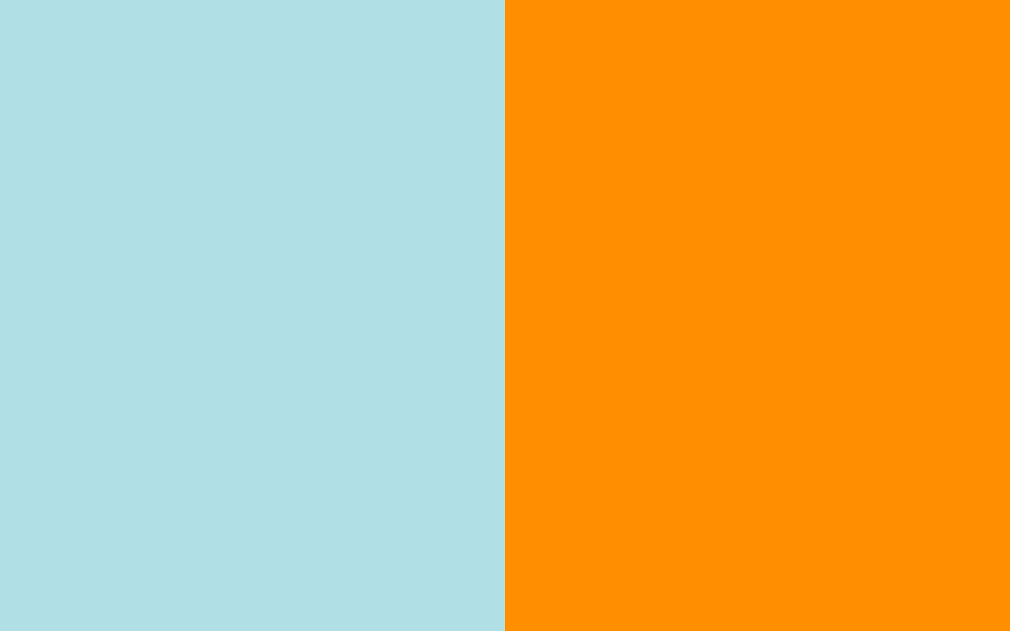 resolution Powder Blue Web and Princeton Orange solid two color 1440x900