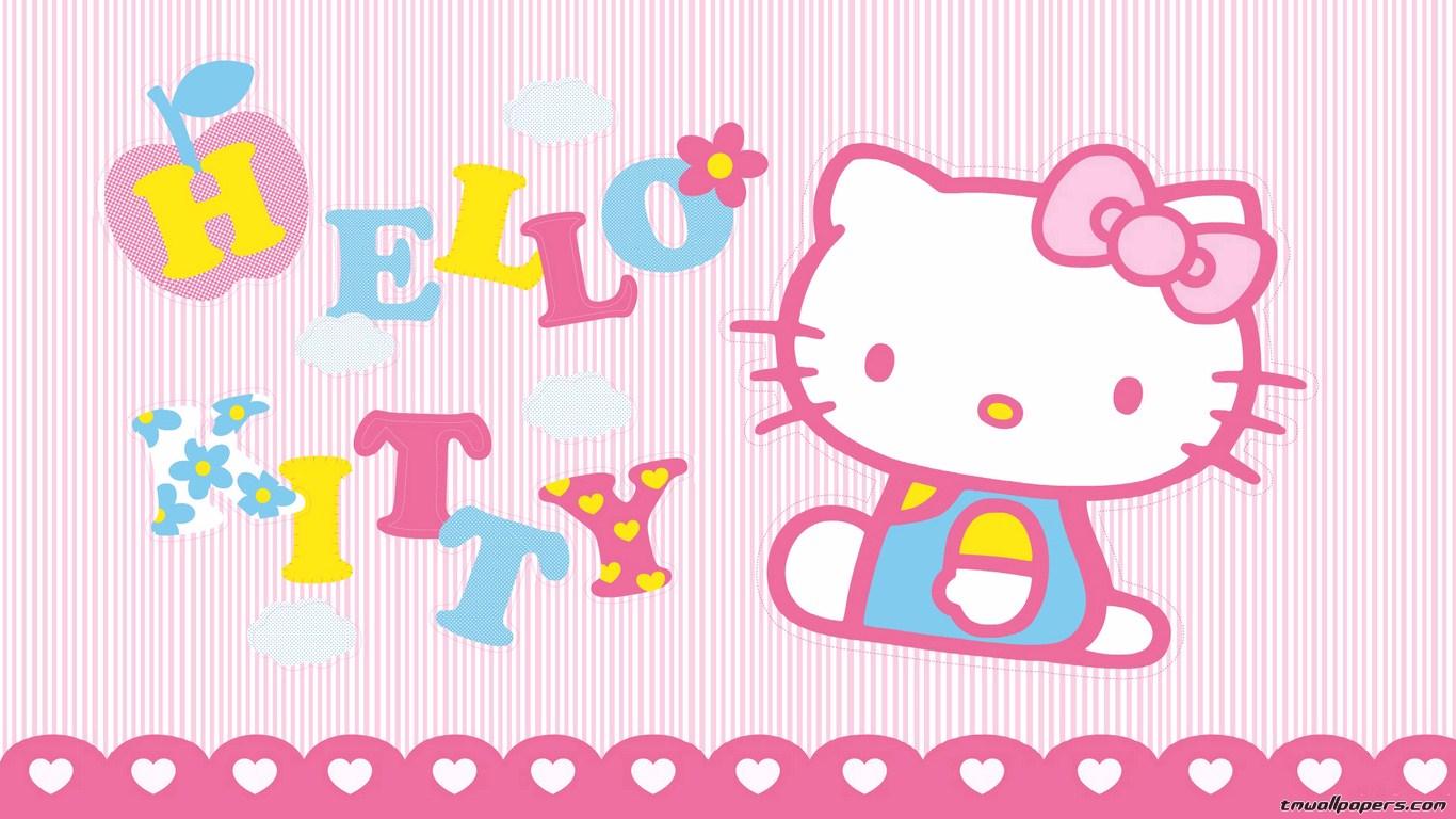 Hello Kitty Valentine 39 s Day Wallpaper 1366x768