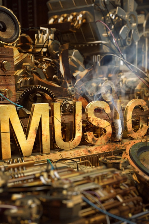 Steampunk Music iPhone HD Wallpaper 516x774