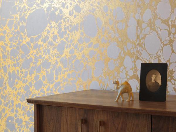 Metallic Marble Wallpaper by Calico Wallpaper   Design Milk 600x450