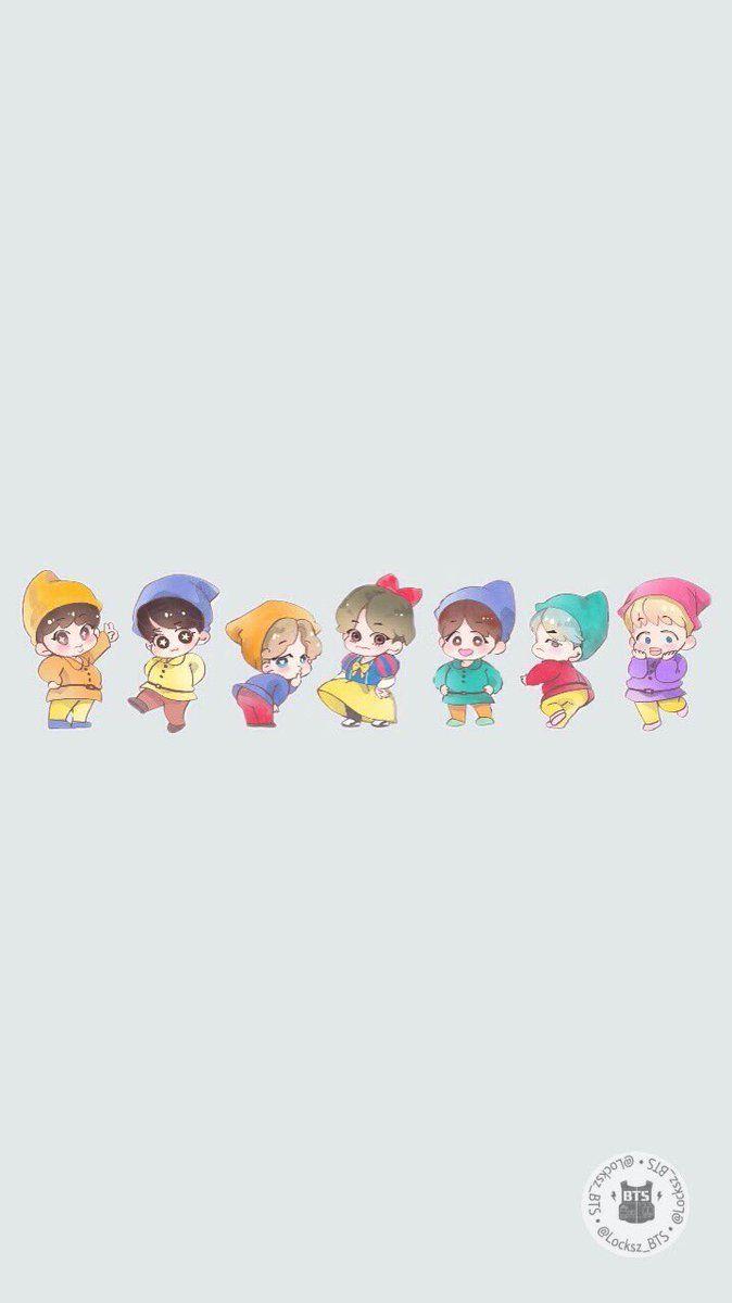 BTS Chibi Wallpapers   Top BTS Chibi Backgrounds 674x1200