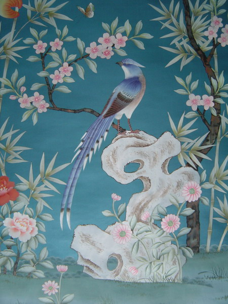 hand painted wallpaper 450x600