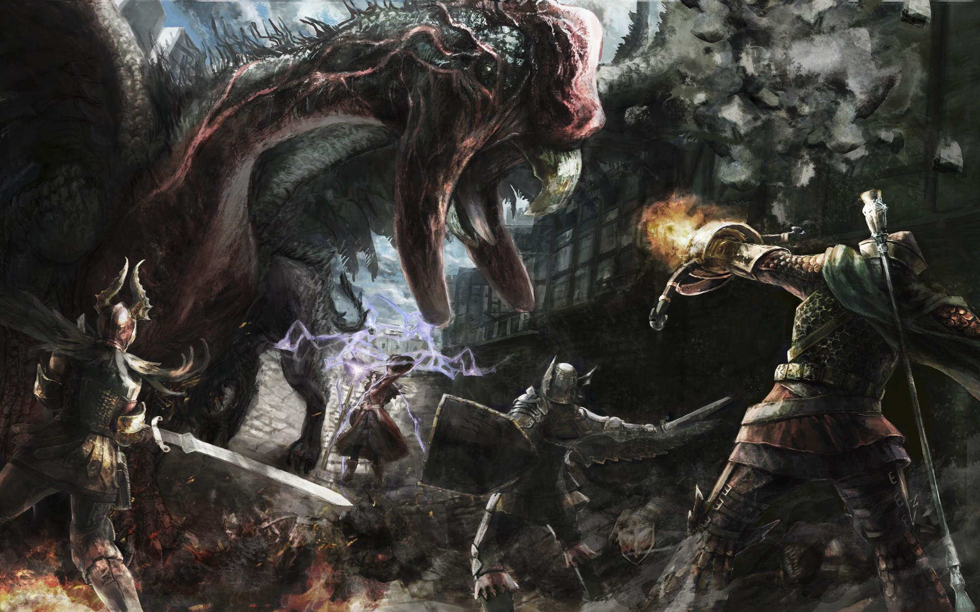 medieval dragons dogma wallpaper 1920x1200 11784 WallpaperUP 1920x1200