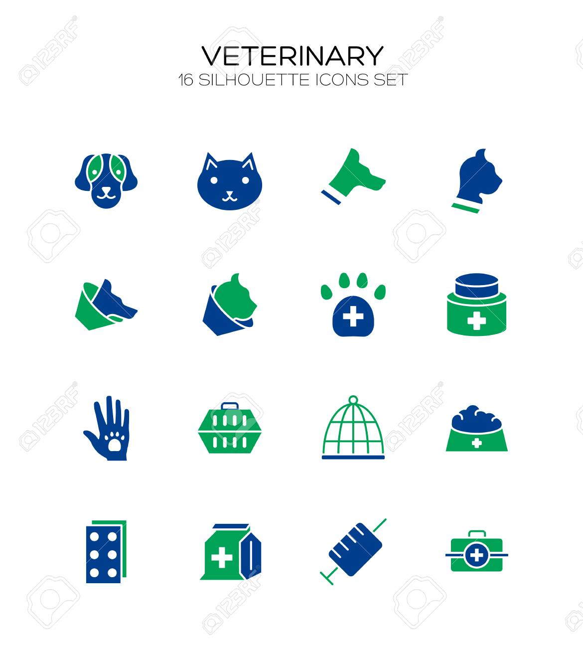 Vet Icon Set Collection Of Veterinary Line Icons High Quality 1170x1300