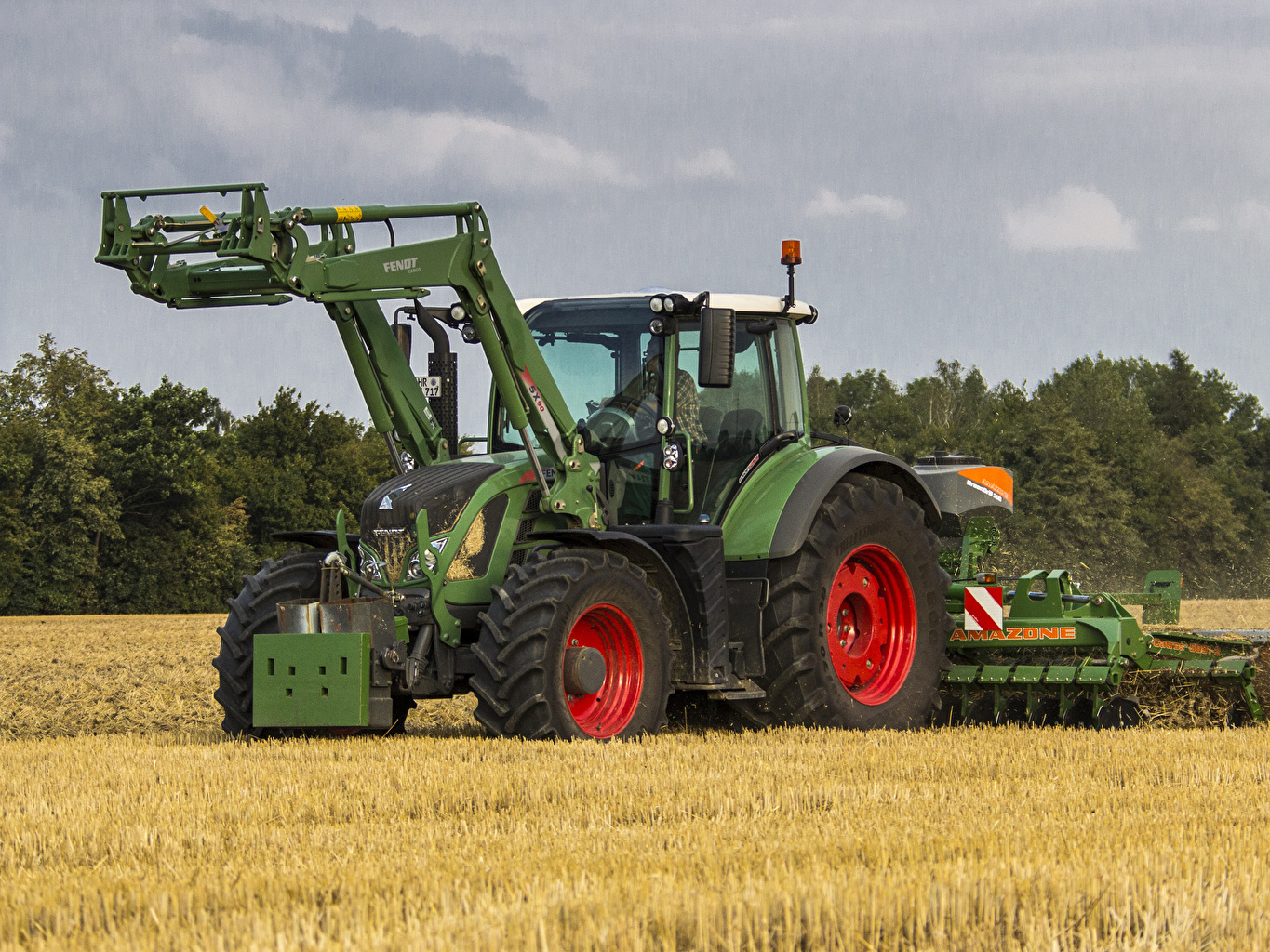 Wallpaper Agricultural machinery 2011 17 Fendt 724 Vario Worldwide 1365x1024