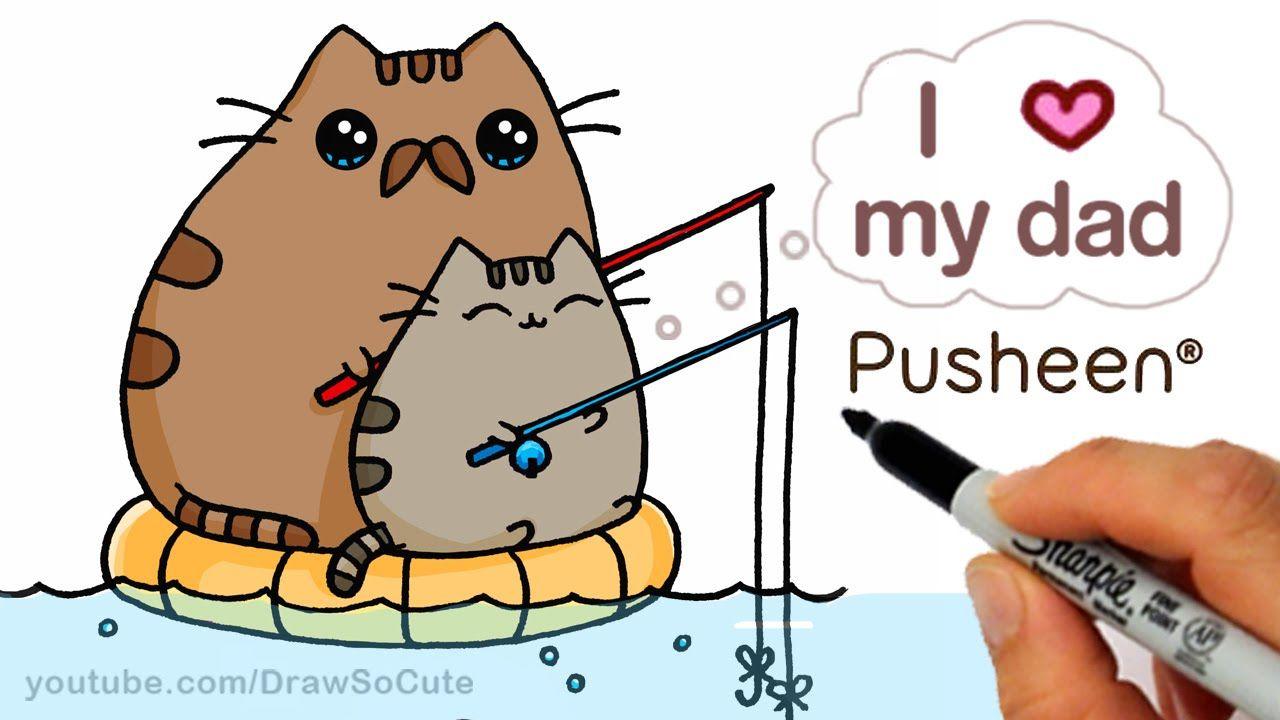 Cute Drawings Of Pusheen Cat 1280x720