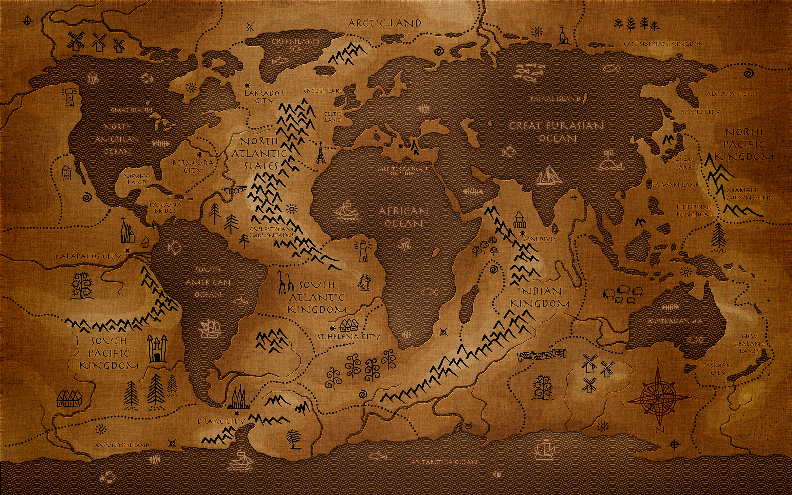 46 Old World Map Desktop Wallpaper On Wallpapersafari