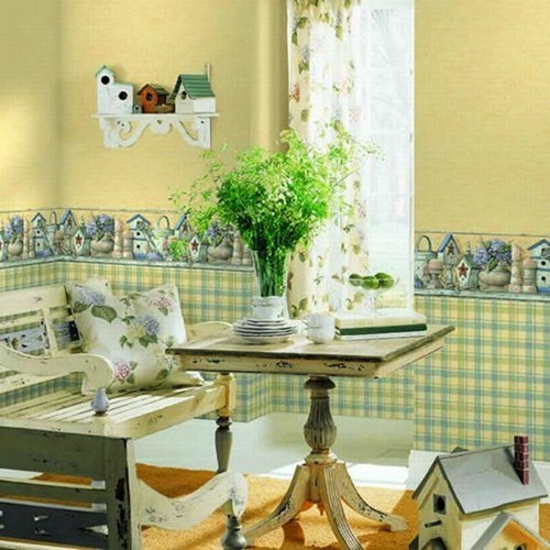 Traditional Kitchen Wallpaper Border Ideas 500x500