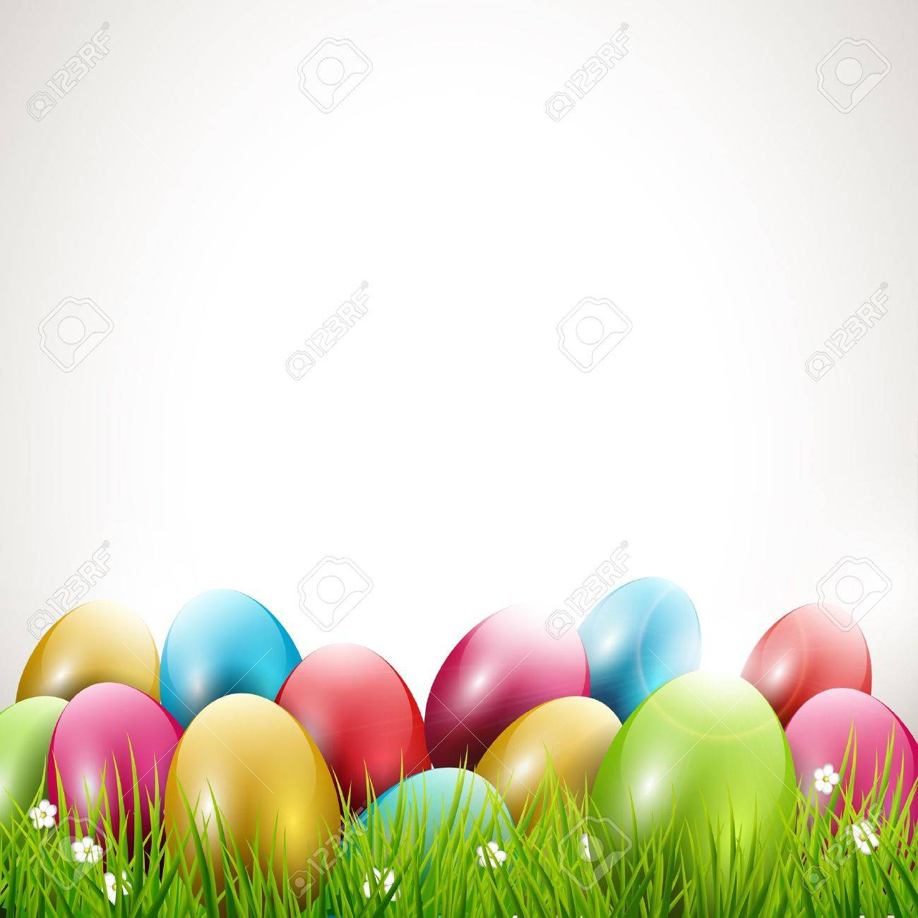 Modern Easter Background With Place For Text Royalty Cliparts 1300x1300