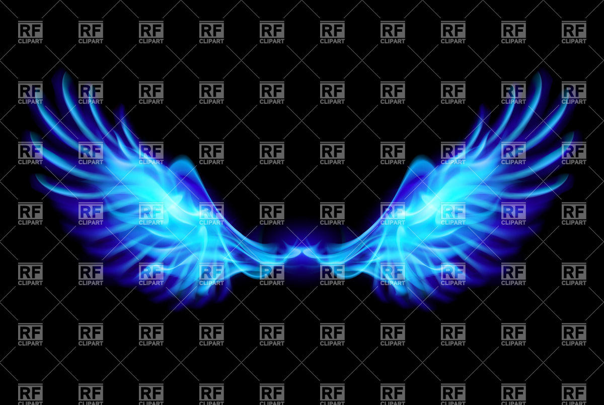 Blue fire wings on balck background 24763 Backgrounds Textures 1200x804