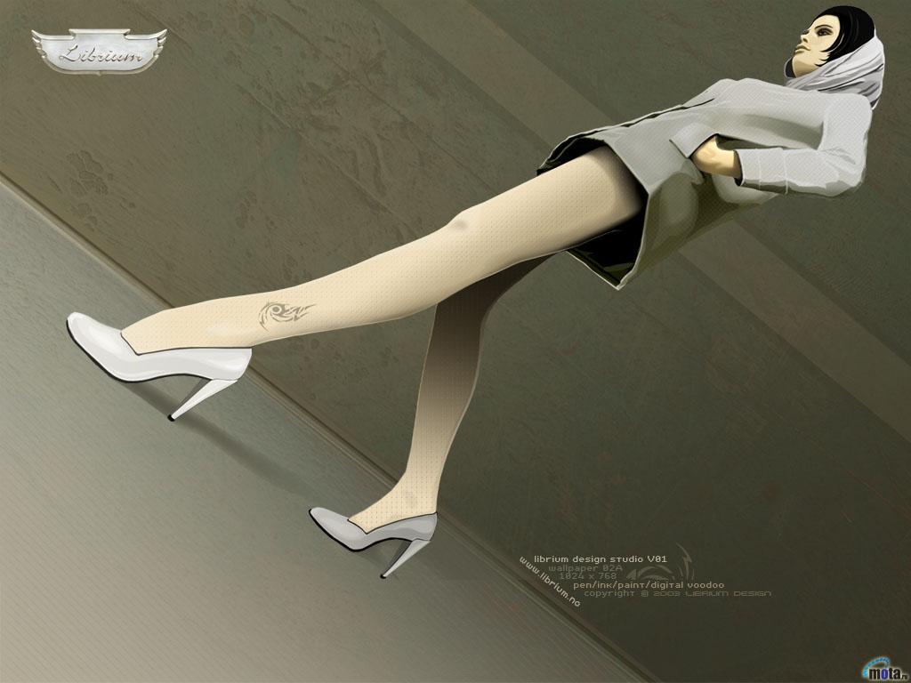 Wallpaper skirt Long legs 1024x768