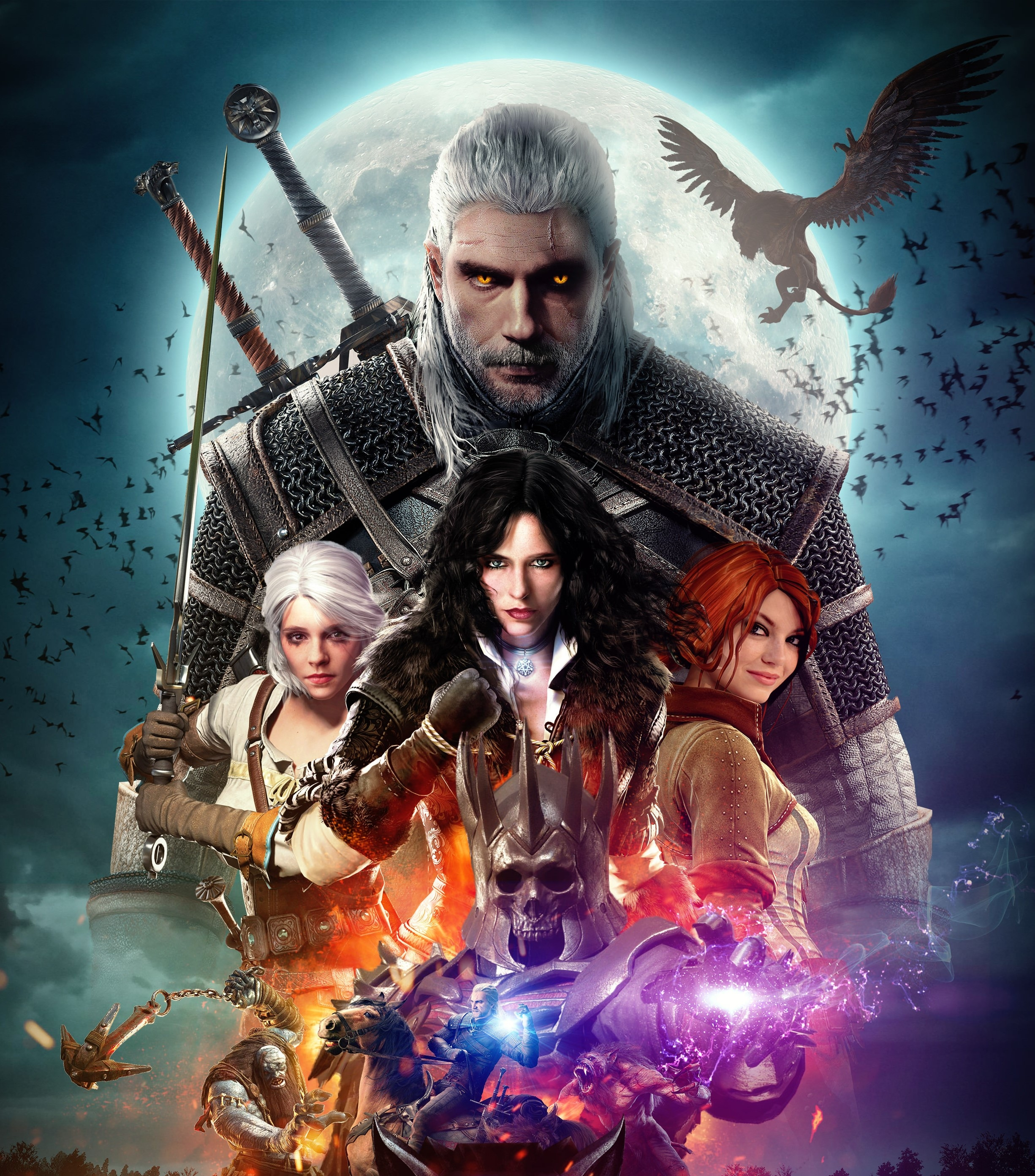 The Witcher 2019 Wallpaper HD Artist 4K Wallpapers Images 2451x2783