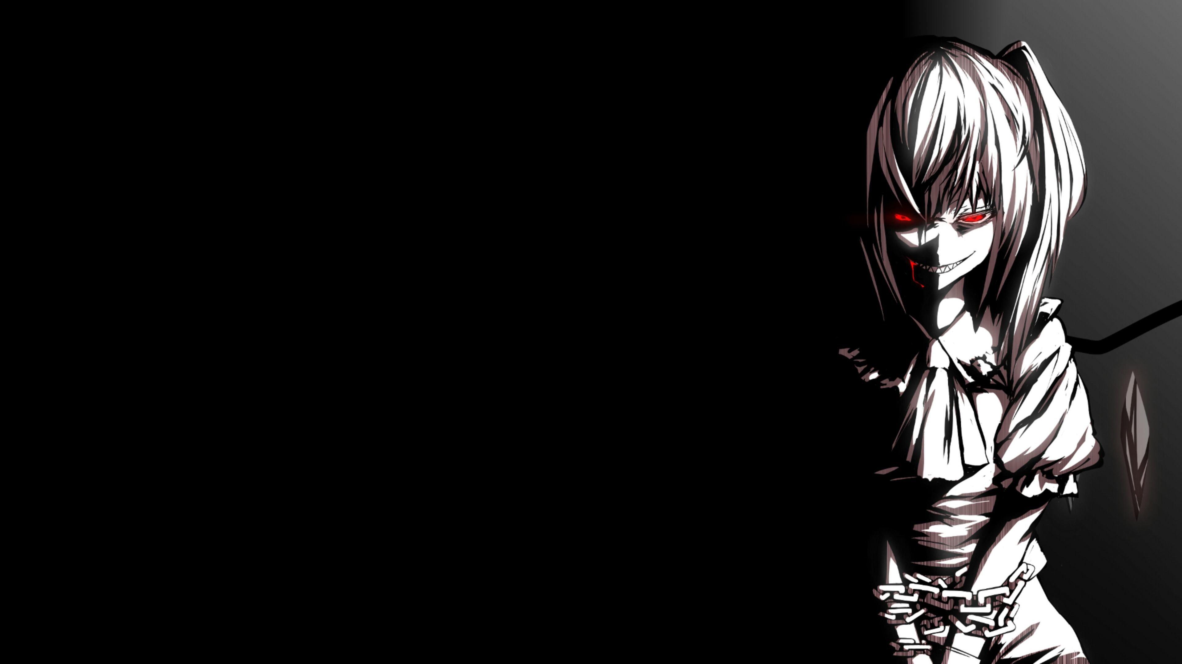 Wallpaper Anime Black 4k 3840x2160