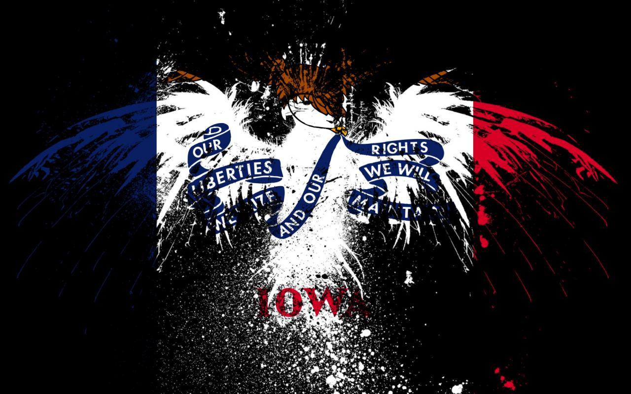Eagles hawk flags usa iowa state wallpaper 15743 1280x800
