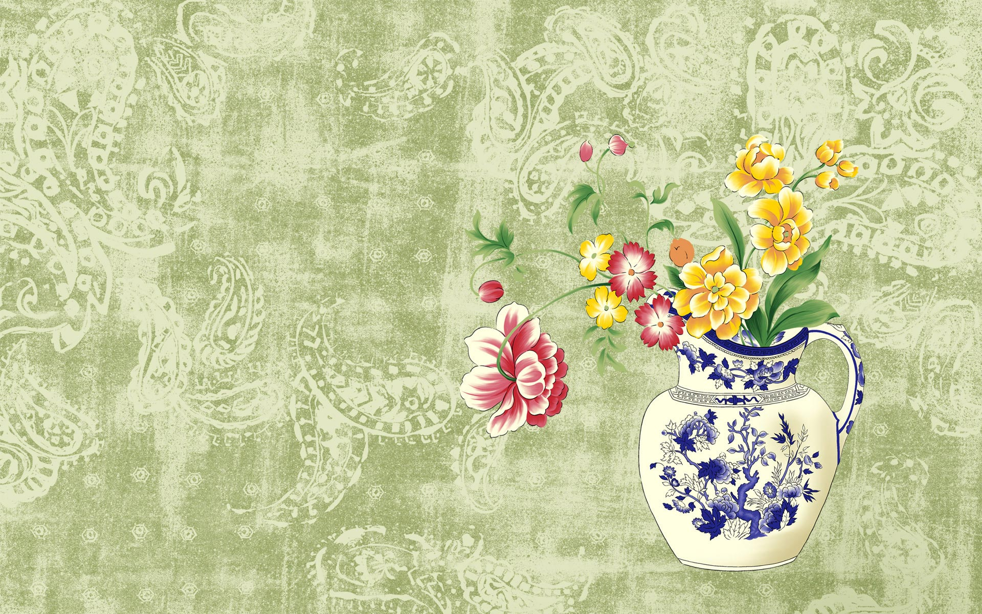 Japanese Painting Style Widescreen wallpapers HD   144666 1920x1200