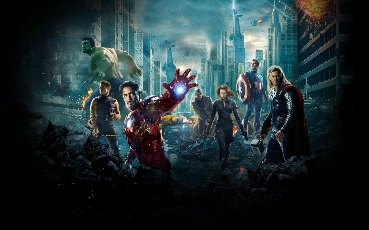 The Avengers desktop wallpaper 1280x800