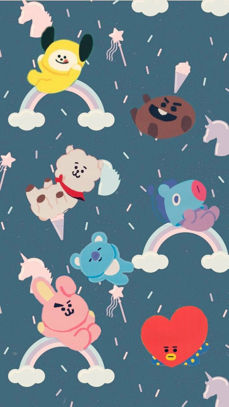 202 best BT21 images 735x1307