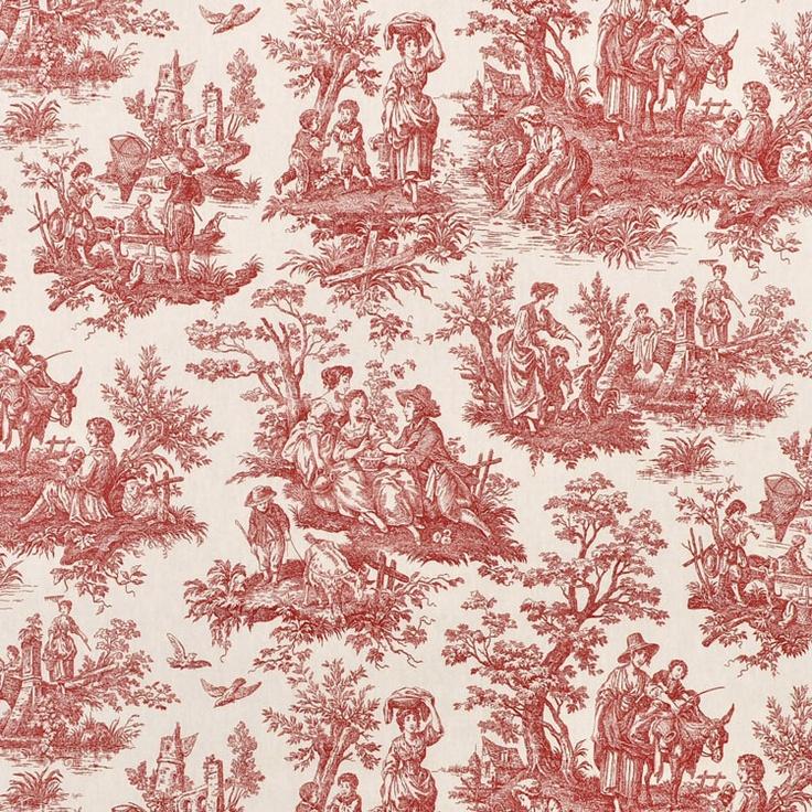 Free Download Waverly Country Life Toile Garnet Fabric Sandi