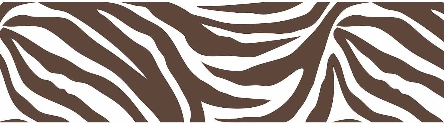 Brown and White Zebra Print Wall Pop Wall Border 1500x416