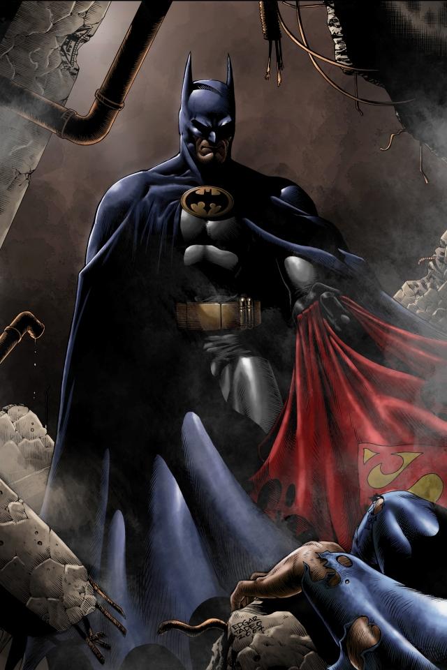 batman superman logo 2013 superman wallpaper hd for iphone 4 Car 640x960
