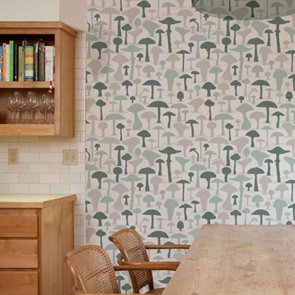 wallpaper   mushroom wallpaper makelike available at walnut 1024x1024
