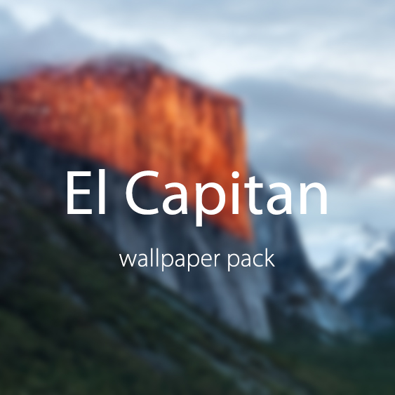 OSX El Capitan Wallpaper Pack   ShockBlast 563x563