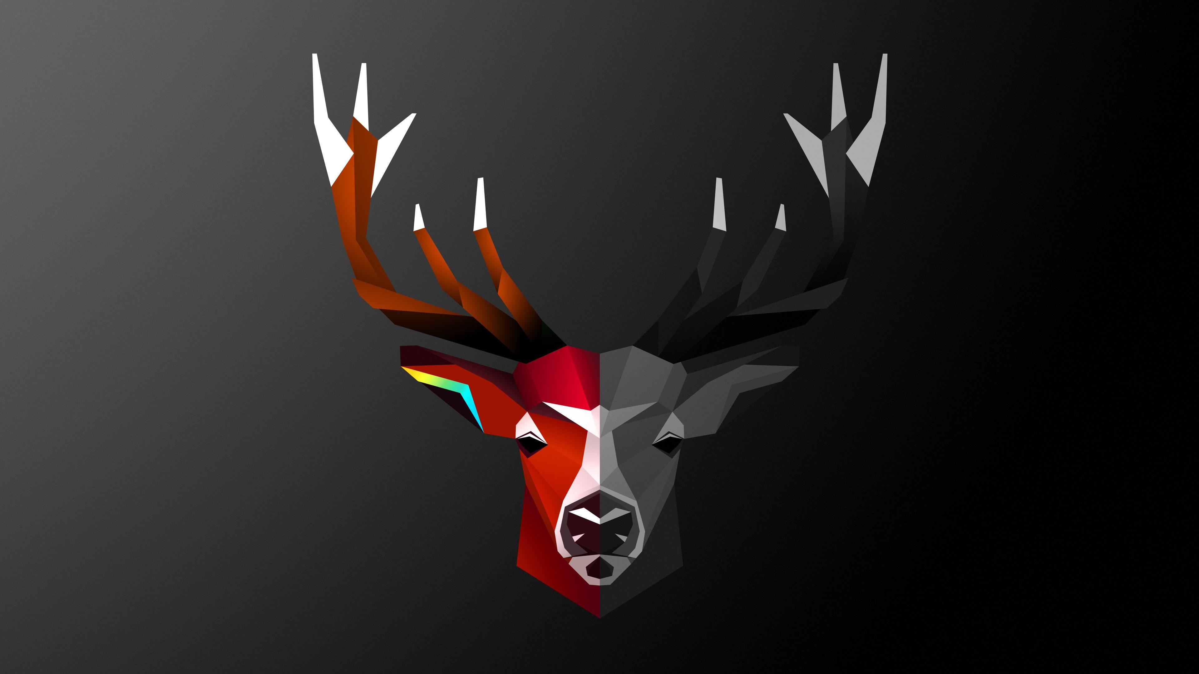 Abstract Deer Wallpapers   Top Abstract Deer Backgrounds 3840x2160