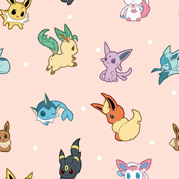 Pokemon Tile Background Eevee Personnaliser son fond dcran 600x600