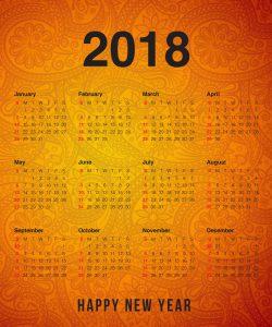 2018 Calendar Wallpapers 2018 Calendar Printable 250x300