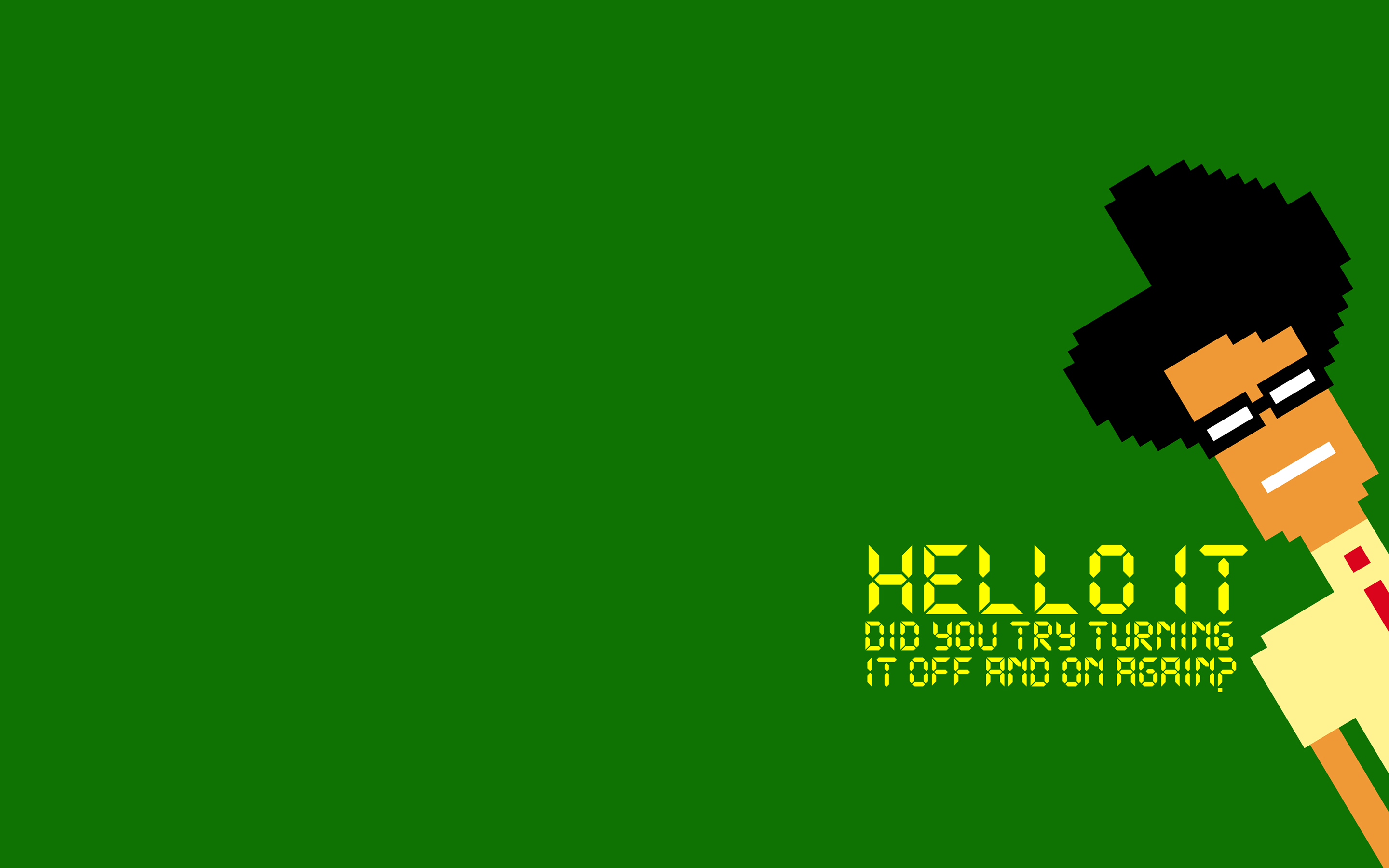 The IT Crowd Green 8-Bit game computer wallpaper | 2880x1800 | 153256 ...