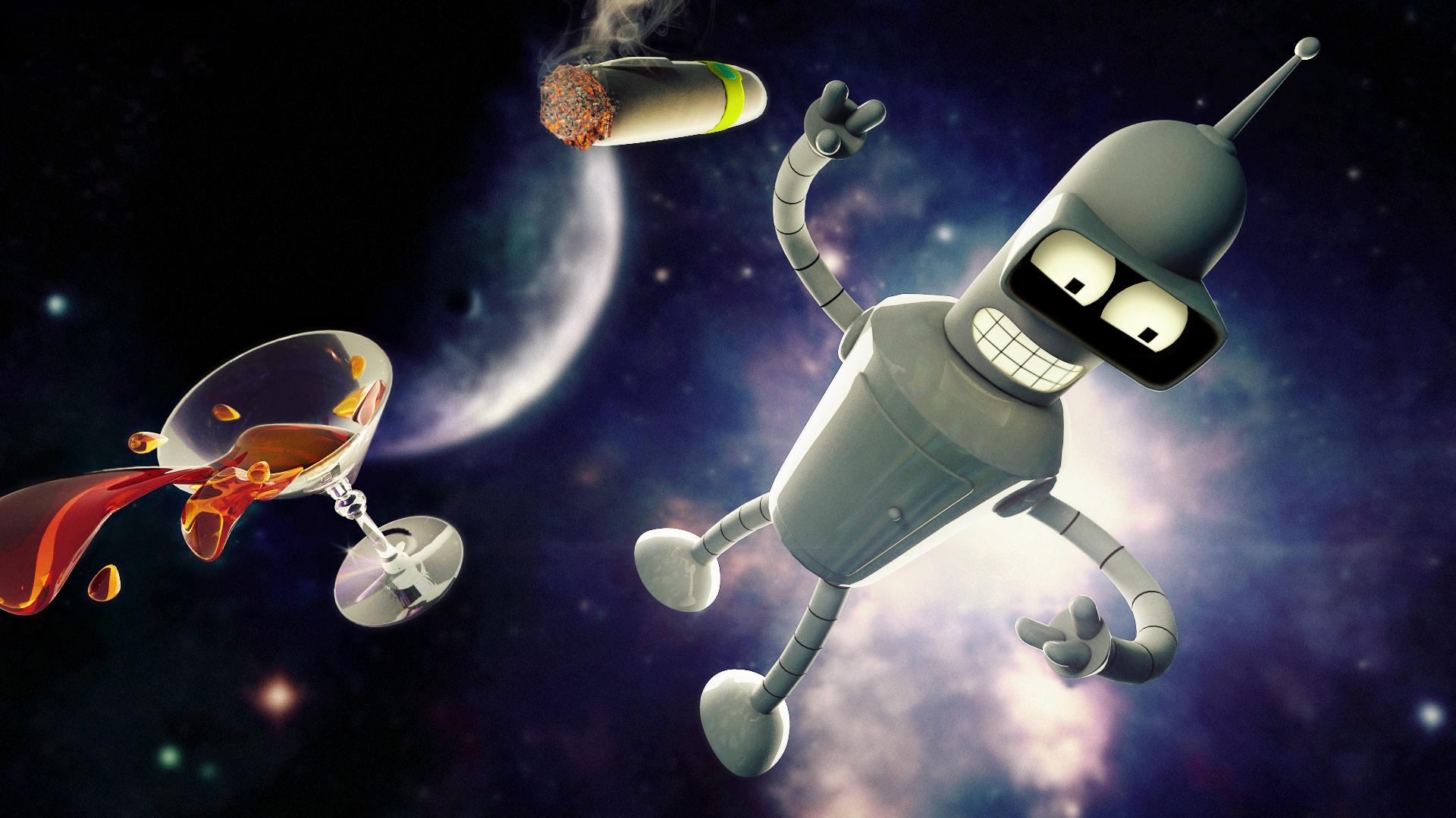 Bender wallpaper futurama wallpapersafari - Futurama wallpaper ...