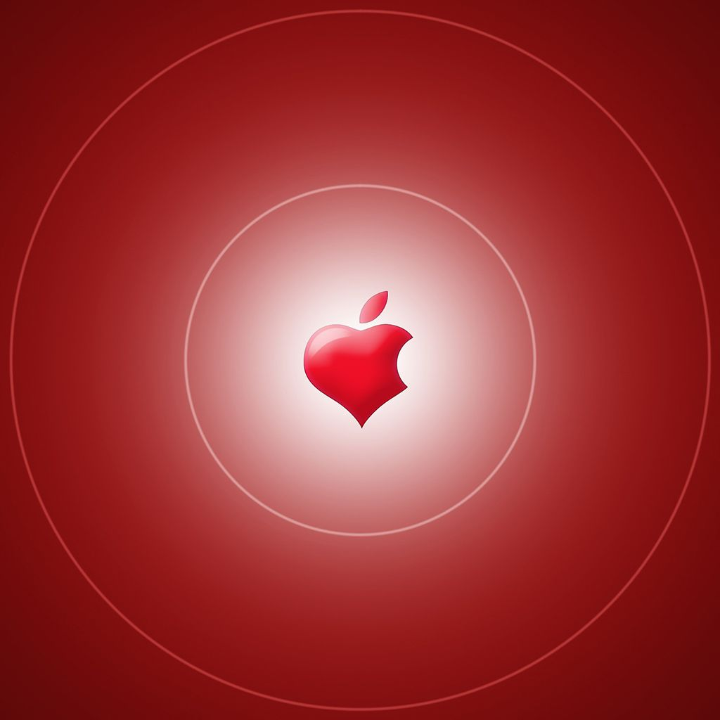 Wallpaper Weekend Apple Logo Valentines Walls for iPhone and 1024x1024
