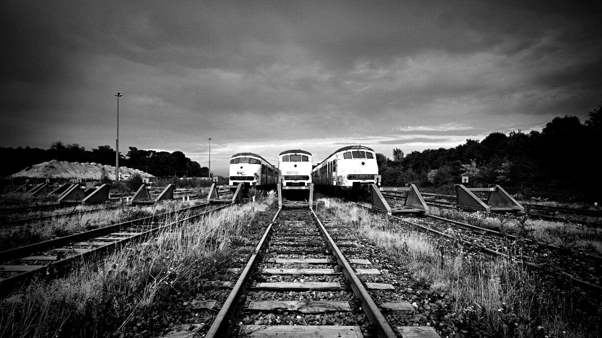 Dutch Railroad Tracks and Trains HD Wallpaper FullHDWpp   Full HD 1920x1080