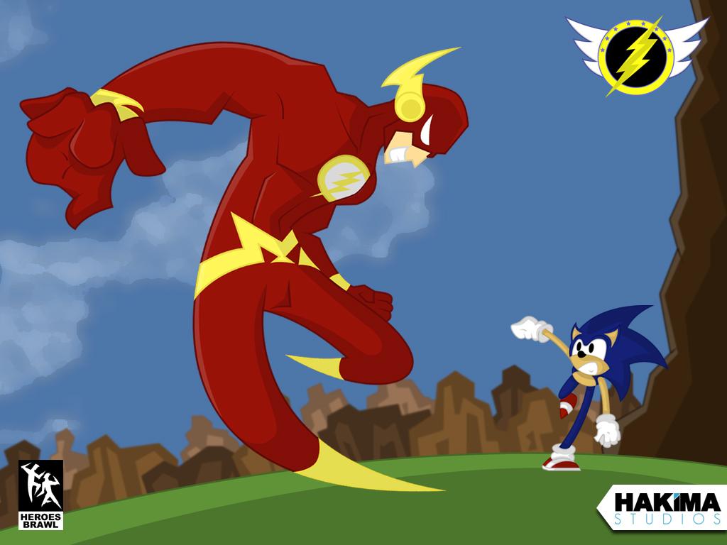 Sonic Vs The Flash Wallpaper 1024 x 768 Version 1 Hakima Studios 1024x768