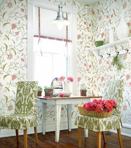 Thibaut Fairfax English Crewel Wallpaper Alexander InteriorsDesigner 443x500