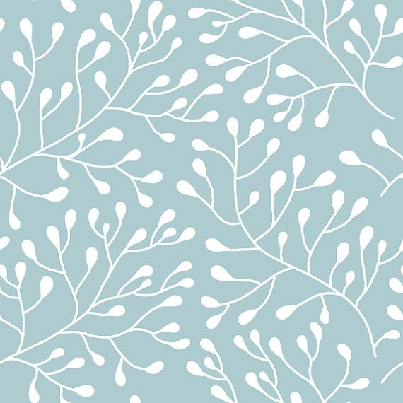 Budding Trees Removable Wallpaper 8 Feet by WallsNeedLove on Etsy 570x570