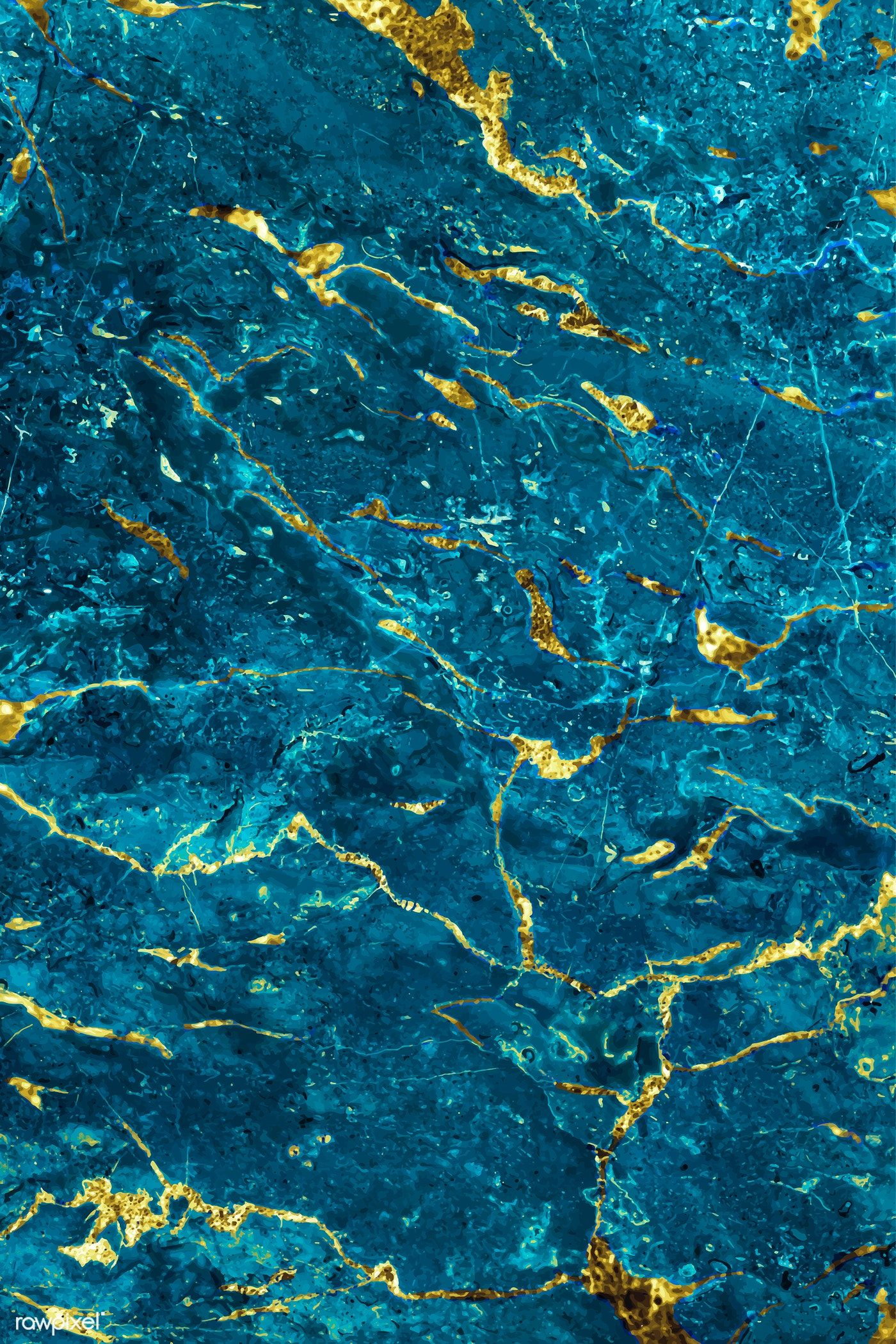Free download Blue and gold marble textured background ...